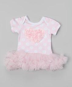 Love this Pink Polka Dot Rosette Tutu Bodysuit - Infant by Tutu AND Lulu on #zulily! #zulilyfinds