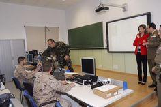 Queen Letizia visits the Artillery Academy in Segovia