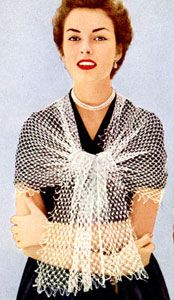 Vintage Peachtree Street Shawl free crochet pattern - but I think I would do this in really soft yarn