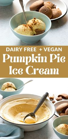 In my world, every good dessert can take on a new form as ice cream. So here, I reconstruct pumpkin pie into a scoop of creamy cold bliss! Pumpkin Pie Ice Cream Recipe, Dairy Free Pumpkin Pie, Pumpkin Pie Mix, Vegan Pumpkin Pie, Ice Cream Pies, Vegan Ice Cream, Delicious Vegan Recipes, Vegan Desserts, Fun Desserts