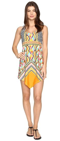Trina Turk Brasilia Dress Cover-Up (Multi) Women's Swimwear - Trina Turk, Brasilia Dress Cover-Up, TT7CP40-960, Apparel Top Swimwear, Swimwear, Top, Apparel, Clothes Clothing, Gift, - Street Fashion And Style Ideas