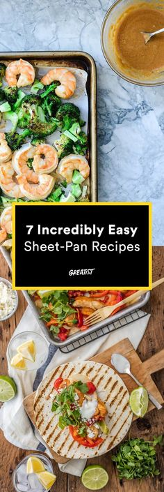 """For those """"I don't want to cook"""" days. http://greatist.com/eat/one-dish-meals-sheet-pan-recipes"""