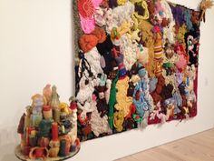 Mike Kelley, More Love Hours Than Can Ever Be Repaid and The Wages of Sin (1987), at the Whitney Museum. Photo: Sarah Cascone.