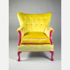 oh. chartreuse and hot pink chair. love. fab.com Happy Chair