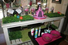 Pamper party setup