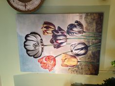 Tulip wall painted canvas