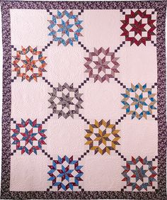 Quilting With Shar. Quilting Templates, Quilt Patterns, Star Quilts, Quilt Blocks, Nosegay, A 17, Step By Step Instructions, Pattern Making, Coloring Books