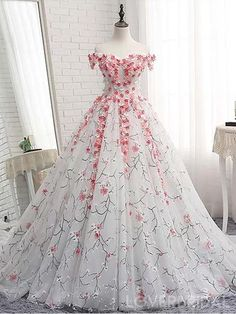 Off Shoulder Lace Applique A-line Evening Prom Dresses 38cb2ab6b098