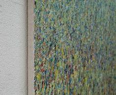 """""""Claim 7 71 60"""" Mischtechnik Modernes Gemälde auf Leinwand _ Der chaotische Farbauftrag kombiniert mit subtilen räumlichen Effekten der Malerei lässt """"Organisches"""" entstehen, das durch die Größe des Bildes """"abgesteckt"""" wird. So ist der Titel """"Claim 7"""" - zu deutsch Anrecht oder Anspruch Nummer 7 – in Bezug zur Fläche """"71 60"""" zu verstehen."""