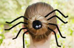 easy Halloween hair style