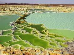 Photographic Print: Dallol Geothermal Brine Hot Springs, Salt Terraces, and a Salt Lake, Ethiopia by Richard Roscoe : Vida Natural, Natural Beauty, Nature Sauvage, To Infinity And Beyond, Natural Wonders, Hot Springs, Natural World, Wonders Of The World, Places To See
