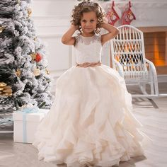 2015 Applique Vestidos De Primera Comunion Tieres Girls Birthday Party Christmas…