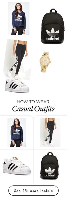 """""""Casual day"""" by klaros-parada on Polyvore featuring adidas, adidas Originals, Michael Kors, women's clothing, women, female, woman, misses and juniors"""
