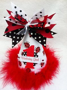 Little Ladybug Birthday Party Hat