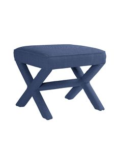 Linen Pacific Blue       This modern classic adds style and wit to any setting. Impossibly chic opposite the sofa or at the foot of the bed; equally sharp at a console, vanity or desk.