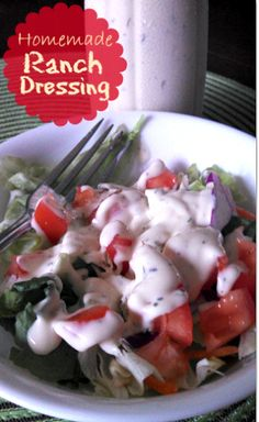 This is a quick and inexpensive way to make ranch dressing. If you just want to make the mix then omit the wet ingredients and use in place of Ranch Dressing mix in recipes.