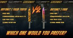 Bayonet | Tiger Tooth VS Bayonet | Fade