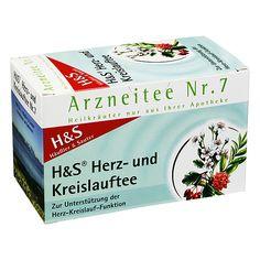 H&S Herz- und Kreislauftee Nr. 7, 20 Filterbeutel | PZN: 2070559 | INNHALTSTOFFE: Weißdornblätter mit Blüten, Weißdornfrüchte, Süßholzwurzel | HERSTELLER: H&S Tee - Gesellschaft mbH & Co. | • Zur Untertüzung der Herz-Kreislauf-Funktion >> http://www.juvalis.de/2070559/hunds-herz-kreislauf-tee-filterbeutel << #Apotheke #Tee