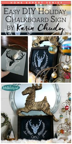 ART IS BEAUTY: Easy DIY Holiday Chalkboard Sign~Home Expert Series~