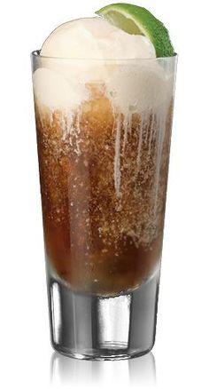 Rum  Coke ice cream float / less calories... diet coke & low fat frozen yogurt!!