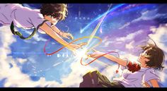 Read Mitsuha x Taki from the story Les plus beaux couples des mangas by PlumeEtoile with reads. Titre de l'anime : Kimi no Na Wa. Wallpapers Hd Anime, Background Images Wallpapers, Anime Films, Anime Characters, Fairytail, Mitsuha And Taki, Zutto Mae Kara, Your Name Wallpaper, Hd Wallpaper