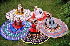 Gilaki Women in traditional Dresses.