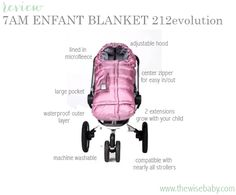 """7am Enfant 212evolution bunting review - the """"must have"""" piece of cold weather baby gear!"""