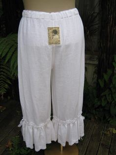 white cotton muslin bloomers