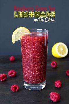 A refreshing green tea lemonade with fresh pureed raspberries and nutrient rich chia seeds. Both healthy and delicious!