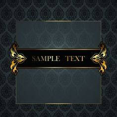 black golden ornate backgrounds vector