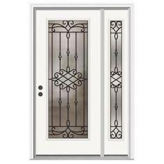 mobile home front doorsJELDWEN 9 Lite Primed White Steel Entry Door with Medium Pet Door