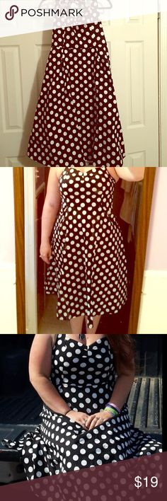 🎀SALE🎀Plus size vintage pinup dress w polka dots This dress is SUPER cute retro rockabilly plus size dress. Similarly to Hell Bunny. Sadly, I ordered it online straight from the manufacturer and it didn't fit me. I kept it in my closet anticipating I'd lose enough weight to wear it eventually. Months later, it's still just taking up space. (The photos of the girls wearing it are NOT me, as it never fit me.) Size is XXL, but it felt like it ran a little small. NWT. Dresses