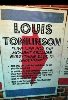 Louis' info poster