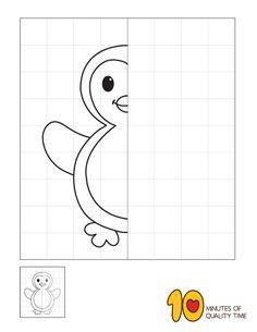 Symmetry Worksheets, 1st Grade Worksheets, School Worksheets, Worksheets For Kids, Giraffe Coloring Pages, Shark Coloring Pages, Penguin Drawing Easy, Sudoku, Symmetry Art