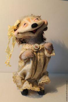Валяная игрушка Ежичка. Handmade.