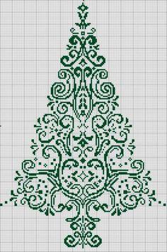 Free Christmas tree cross-stitch pattern #stitching