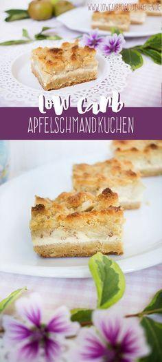 Low Carb Apfelschmandkuchen mit karamellisierten Äpfeln www.lowcarbkoestlichkeiten.de