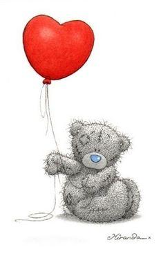 Tatty Teddy bear with a balloon. Tatty Teddy, Teddy Pictures, Bear Pictures, Cute Pictures, Fizzy Moon, Image Deco, Blue Nose Friends, Cute Clipart, Love Bear