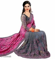 Checkout this latest Sarees Product Name: *geogrette saree* Saree Fabric: Georgette Blouse: Separate Blouse Piece Blouse Fabric: Dupion Silk Pattern: Embroidered Blouse Pattern: Same as Saree Multipack: Single Sizes:  Free Size (Saree Length Size: 5.5 m, Blouse Length Size: 0.8 m)  Country of Origin: India Easy Returns Available In Case Of Any Issue   Catalog Rating: ★4 (490)  Catalog Name: Alisha Sensational Sarees CatalogID_1890676 C74-SC1004 Code: 778-10389028-7752