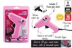 Różowy pistolet do kleju na gorąco