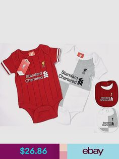 19e125796 New Season Liverpool Baby Core Kit 2 Pack Bodysuits - 0-18m £11.99 ...