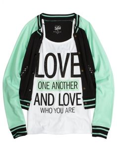 Varsity Jacket 2fer | Girls Varsity Vibe New Arrivals | Shop Justice (For any of my girls. First thought: Kamryn.)