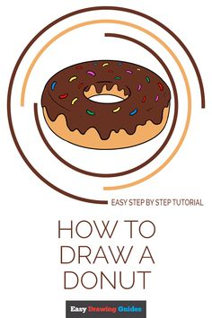 Learn to draw a tasty donut. This step-by-step tutorial makes it easy. Kids and beginners alike can now draw a great looking dougnut. Drawing Tutorials For Kids, Drawing Projects, Drawing For Kids, Painting For Kids, Art For Kids, Drawing Ideas, 4 Kids, Drawing Tips, Easy Art Projects