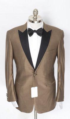 BRIONI Gold Wool Silk Peak 1Btn Tuxedo Coat Smoking Jacket  |  Find yours! http://www.frieschskys.com/blazers  |  #frieschskys #mensfashion #fashion #mensstyle #style #moda #menswear #dapper #stylish #MadeInItaly #Italy #couture #highfashion #designer #shopping