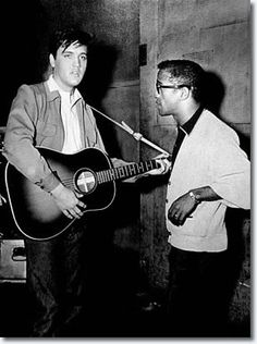 Elvis and Sammy Davis Jr.