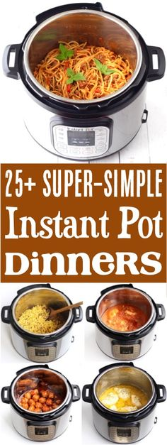 Instant Pot Recipes Healthy Family Instant Pot Recipes Easy Dinners for Beginners! Pressure cooker meals like chicken, beef, and chili make busy weeknights so much easier! Instant Pot Dinner Recipes, Easy Dinner Recipes, Easy Meals, Instant Recipes, Power Cooker Recipes, Healthy Pressure Cooker Recipes, Easy Pressure Cooker Recipes, Instant Pot Pressure Cooker, Power Pressure Cooker