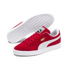 sale retailer 830ed 97638 Suede Classic sneakers red-white by Puma Red Puma Suede, Puma Suede Shoes,