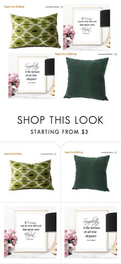 """""""#green ikat pillow #dark green pillow #poster prints"""" by eulica on Polyvore featuring interior, interiors, interior design, дом, home decor, interior decorating, GREEN, Dark, etsy и poster"""