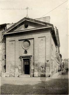 Roma Sparita - Foro di Traiano - Chiesa di Santa Maria in Macello Martyrum, su via Alessandrina prima della demolizione