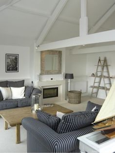 Nautical inspired Sitting Room